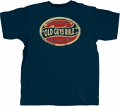 Old Guys Rule Better Oval Navy Tee