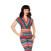 Bettie Page Senora Sweetie Top Serape Stripe