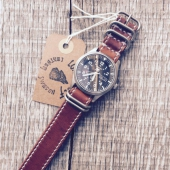 Lone Wolf Leather Nato Watch Strap Brown