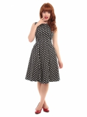 Collectif Hepburn Polka Dot Doll Dress Black/White
