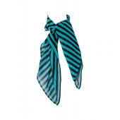 Tatyana Scarf Striped Black/Turquoise