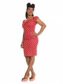Collectif Dolores Pencil Polka Dress