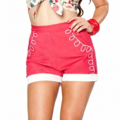 Bettie Page Tourist Shorts Red