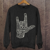 Motobsessed Raise The Horn Sweatshirt