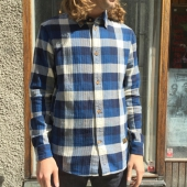 K.O.I Enda Navy Check Shirt