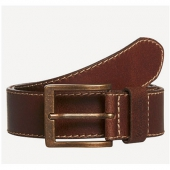 Wrangler Stitched Belt Brown