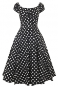Collectif clothing Dolores doll dress black polka