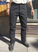 Indigofera Heyes Pant Black Heavy Oxford