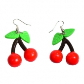 Collectif cherry drop earrings