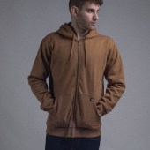 Dickies Kingsley Zip Hoody Brown Duck