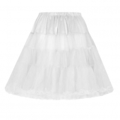Collectif Clothing Maddy Short Petticoat White