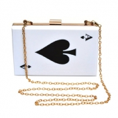 Collectif Ace Of Spades Clutch Bag