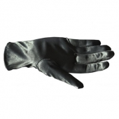 Collectif Satin Bracelet Length Gloves black