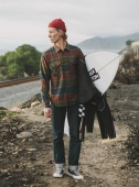 Brixton Weldon L/S Flannel Olive/Brown