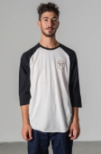 Brixton Wheeler 3/4 Sleeve Tee Off White