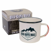 Old Guys Rule Enamel Camping Mug