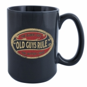 Old Guys Rule Better Oval Mug Lake Blue