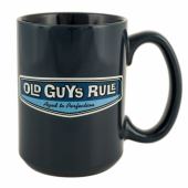 Old Guys Rule Rear View Mug Lake Blue