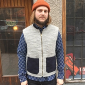 The Workers Club Mens Gilet Grey
