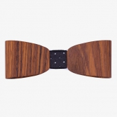 Sapid Wooden Bow Tie Rosewood