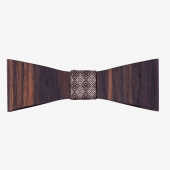 Sapid Wooden Bow Tie Ebony