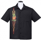 Steady Rat Fink pinstripe panel black