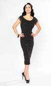 Bettie Page Wild One Wiggle Dress Black
