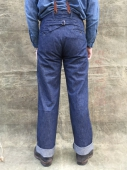 Adjustable Costume Work Style Baggy Pants Denim