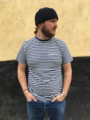 Armor-Lux Striped blue linen t-shirt