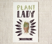 Wit & Whistle Crazy plant lady pin