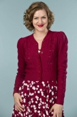 Emmy Design The Susie Q Cardigan Wine