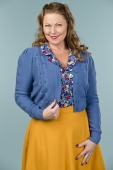 Emmy Design The Susie Q Cardigan Blue