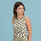 Emily and Fin Lucy A-line Dress Pineapple Punch