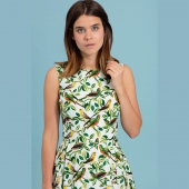 Emily and Fin Jasmine Dress Tropical Parakeets