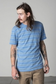 Brixton Hilt washed S/S pocket knit royal
