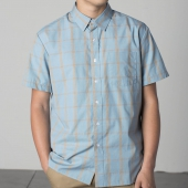 Brixton Hutton S/S shirt Luau blue