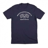 Brixton Burnout tee navy