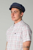 Brixton Fiddler cap navy/brown
