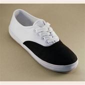Canvas sneaker black/white
