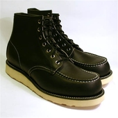 Red Wing Style No. 8130 Classic Moc Toe Black