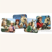 Accoutrements Cowgirl coasters