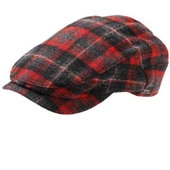 Wigéns Red/Grey plaid cap