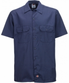 Dickies Shortsleeve Work Shirt Navy Blue