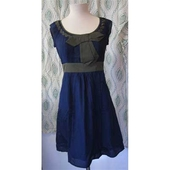 Maya dress navy/green