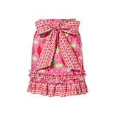 Party in pink half apron