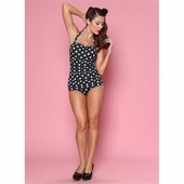Esther Williams Classic sheath polka dot black/white