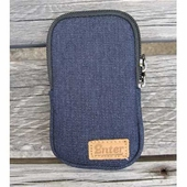 iPhone zip case denim