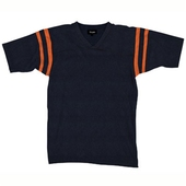 Brixton Turner navy/gold stripe tee