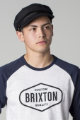 Brixton Fiddler black herringbone