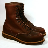 Red Wing Style No. 214 8 inch Embossed Moc Oxblood